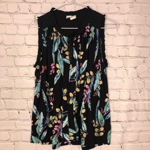 Anthropologie Meadow Rue size small floral tank